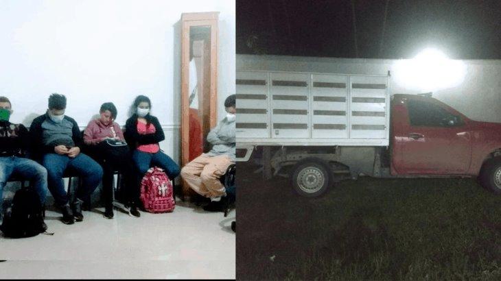 """Rescatan a cinco centroamericanos en Balancán y detienen a """"pollero""""."""