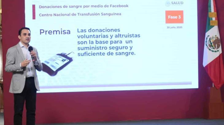 A través de Facebook, México se suma a una estrategia para la donación de sangre