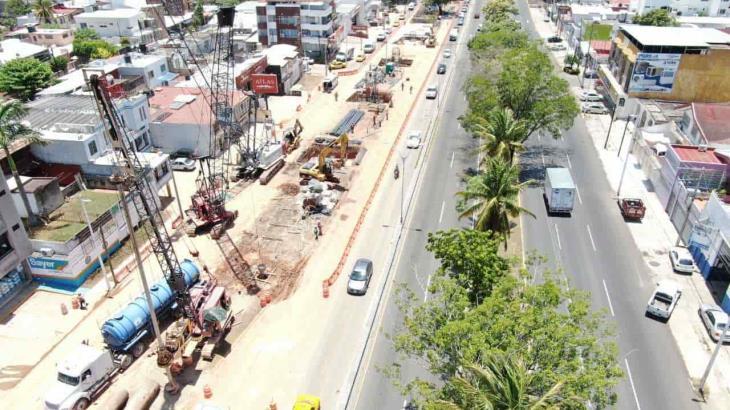 Reporta SOTOP sin contratiempos la construcción del distribuidor vial Universidad