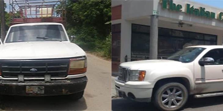 Aseguran dos unidades con reporte de robo en Villahermosa