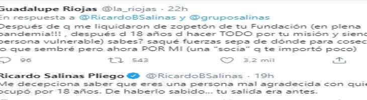 """Llama Ricardo Salinas Pliego """"malagradecida"""" a extrabajadora de su fundación"""