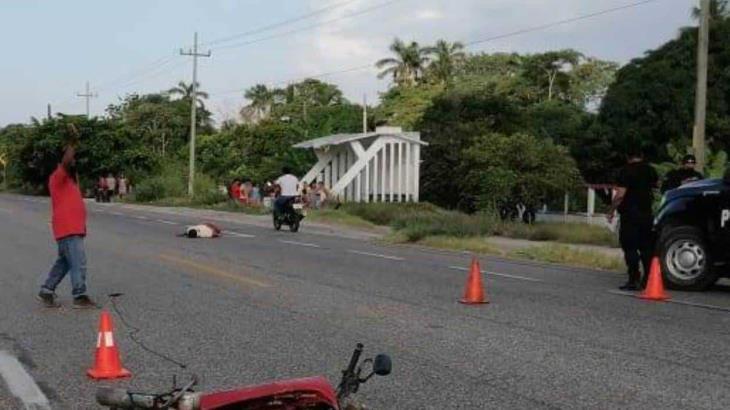 Fallece motociclista tras ser embestido en la carretera Frontera-Ciudad del Carmen
