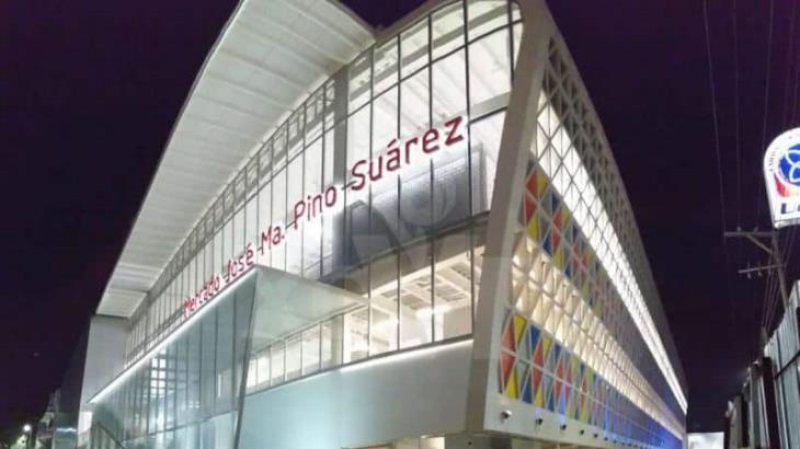 Restablecen servicio de agua y energía eléctrica en el mercado 'Pino Suárez'