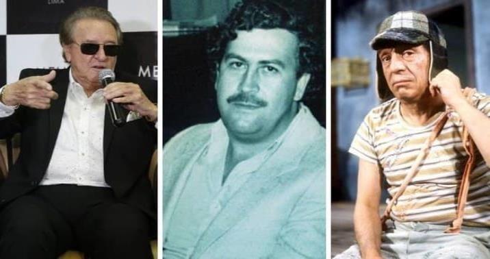 """Revela Carlos Villagrán que rechazó una oferta de 1 mdd de Pablo Escobar; """"El Chavo"""" y su equipo sí trabajaron para el capo, asegura"""