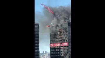 Se incendia el último piso del World Trade Center de Bruselas
