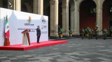 Confirman que mensaje por Segundo Informe de Gobierno será en Palacio Nacional... y con sana distancia