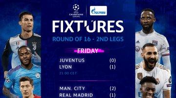 ¡Hoy arrancan los juegos restantes de Octavos de la Champions League!