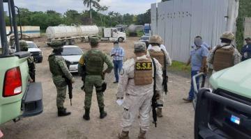 Resguarda Ejército pensión de tráilers en ranchería González