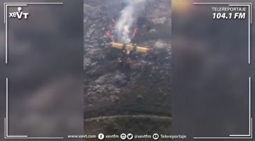 Muere bombero de Portugal y otro más resulta herido, tras estrellarse avión con el que sofocaban un incendio