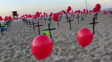 Supera Brasil las 100 mil muertes por coronavirus; ONG hace homenaje a fallecidos