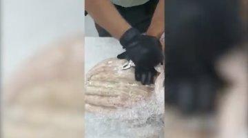 "Asegura la Guardia Nacional aparente droga ""crystal"", escondida en escultura religiosa, en Querétaro"