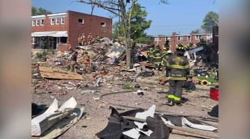 Explosión de gas natural en vecindario de Baltimore EU, deja un muerto y varios heridos