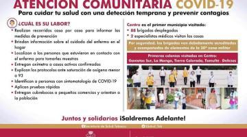 Centro, primer municipio visitado por el programa ´Atención Comunitaria Covid-19´