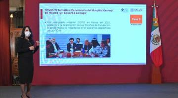 Hospital General de México ha atendido a más de 3 mil pacientes COVID, informa Salud