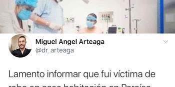 Roban departamento de médico que abandonó la atención que recibía, para atender de urgencia a un trabajador de Pemex