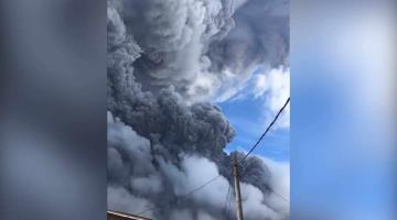 Se reactiva volcán y afecta a poblaciones de hasta 20 km de distancia