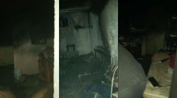 Se registra incendio en una casa en la ranchería Río Viejo