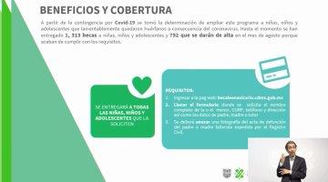 Entrega gobierno de CDMX beca Leona Vicario a más de mil huérfanos por Covid-19