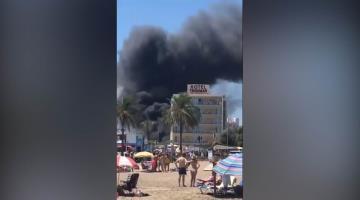 Incendio en hotel de España deja varios heridos (Video)