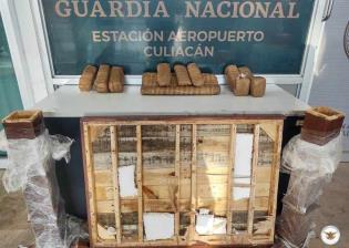 Detectan 13 envoltorios de aparente marihuana en aeropuerto de Sinaloa