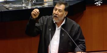 Se confrontan Fernández Noroña y diputado panista, por el cubrebocas