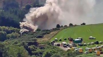 Descarrila tren en Escocia (Video)