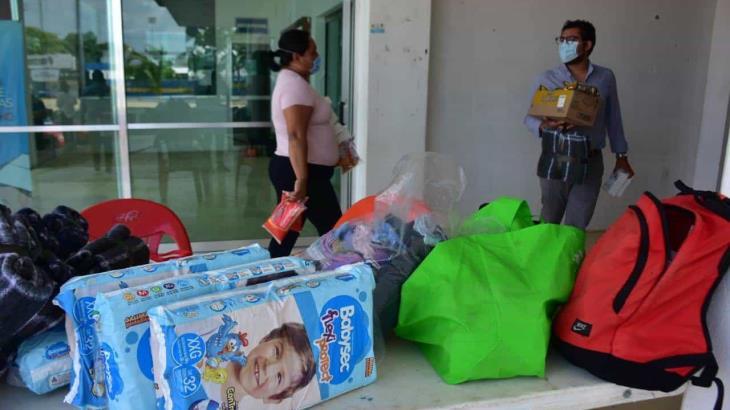 Instala Injudet centro de acopio para afectados por inundaciones