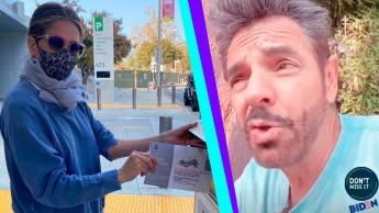 De Jennifer Aniston a Eugenio Derbez... estos son los famosos que ya votaron en Estados Unidos