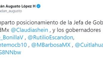 Gobernadores de Morena y PES, manifiestan respaldo a AMLO y desaprueban decisión del Frente Federalista