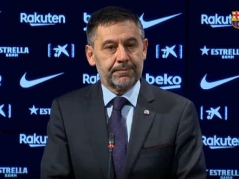 Opositores celebran salida de Bartomeu del Barça