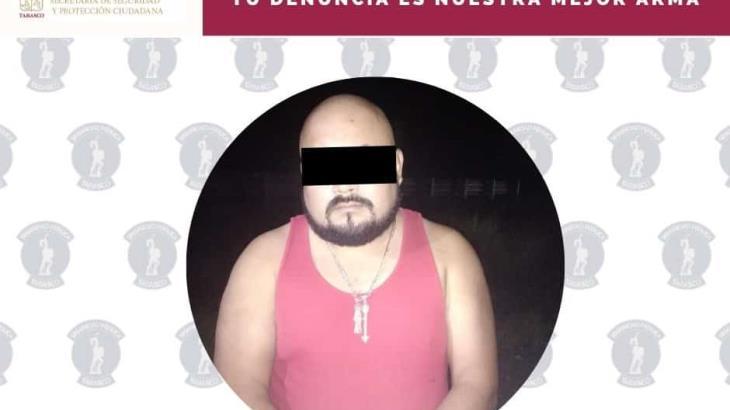 Aprehenden a hombre con dosis de drogas y arma de fuego, en carretera Villahermosa-Teapa