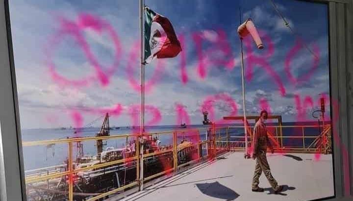 Realizan pintas en sede nacional de Pemex, tras tres días de protestas en refinería de Hidalgo