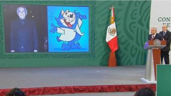 """Con el personaje de Benito Bodoque de """"Don Gato y su pandilla"""", Andrés Manuel recuerda a Jorge Arvizu """"El Tata"""""""