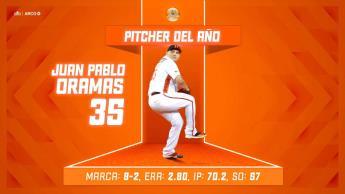 Juan Pablo Oramas, Pitcher del Año en la Liga Mexicana del Pacífico