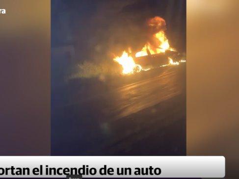 Accidente sobre la carretera Villahermosa-Frontera deja un vehículo calcinado