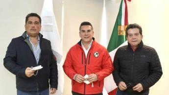 Se reúne ´Alito´ Moreno con Dagoberto Lara en el 92 aniversario del PRI