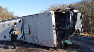 4 fallecidos y una decena de heridos deja accidente de autobús en autopista Tepic-Mazatlán