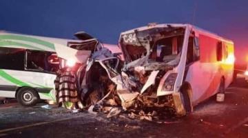 Choque en Sonora deja 16 muertos y al menos 20 heridos