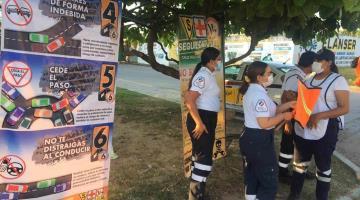 Realiza Cruz Roja Mexicana de la Juventud campaña de prevención de accidentes viales