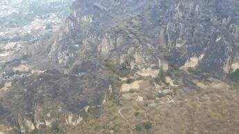 Controlan al 100 % incendio en Tepoztlán; se trabajó en 11 km de brechas cortafuegos
