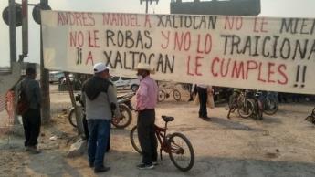 Habitantes de la comunidad de Xaltocan ponen fin a un plantón que tenían en las obras del NAIFA