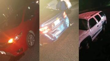 Deja un herido carambola de tres vehículos en la carretera Paraíso-Comalcalco