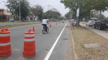 Cancelan carril en Paseo Tabasco para habilitar ciclovías... en Villahermosa