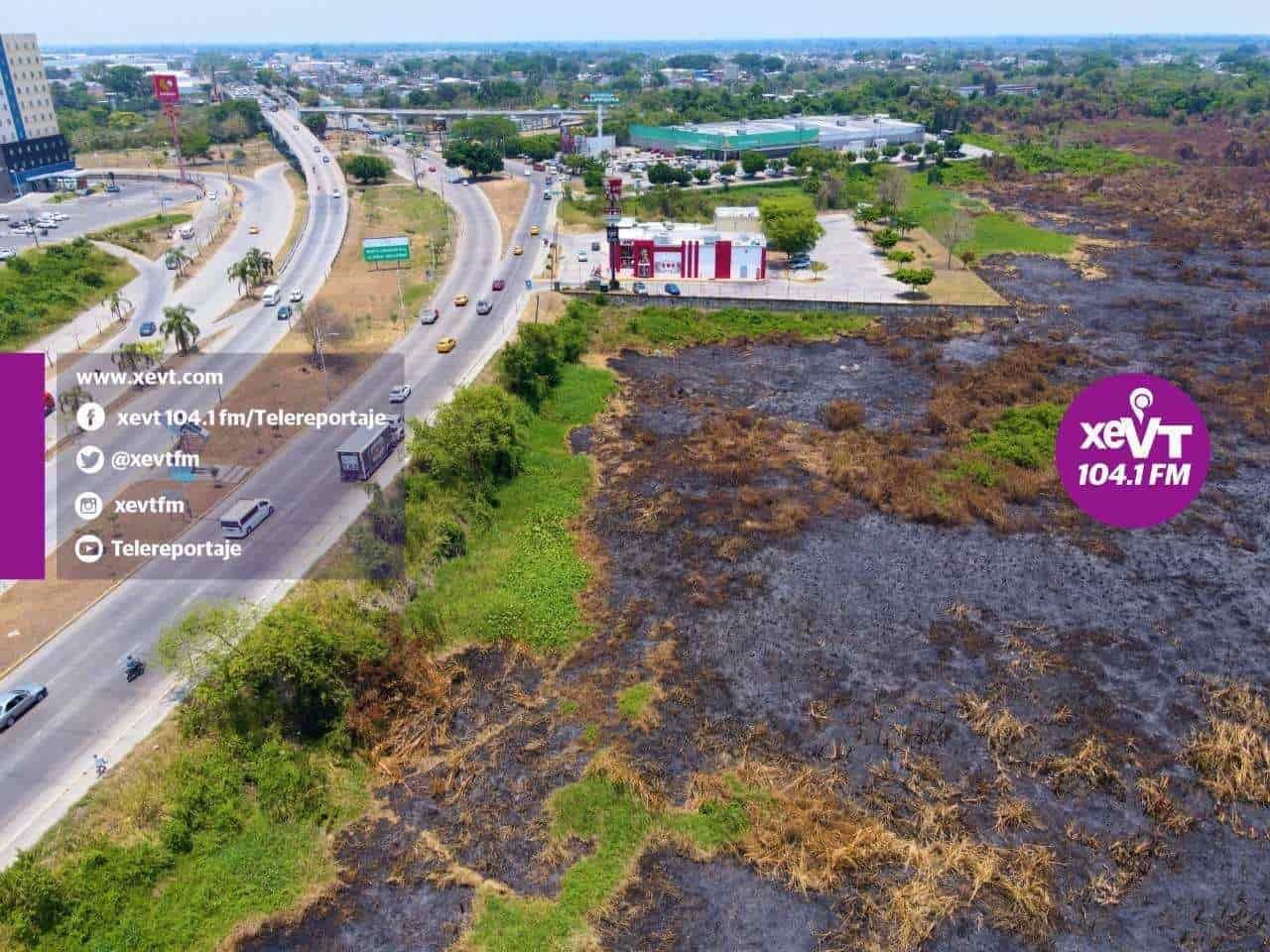 """En """"cenizas"""" quedaron ocho hectáreas de la Laguna El Negro tras incendio"""