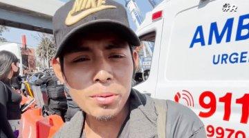 Tabasqueño presenció accidente de la Línea 12... dormía abajo del puente que cayó