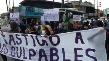 Ciudadanos se manifiestan en zona del accidente de la Línea 12