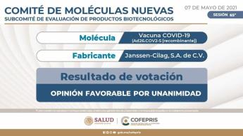 Cofepris recomienda aprobar uso de la vacuna de Johnson & Johnson en México