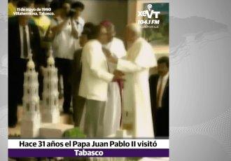 La visita del Papa Juan Pablo II hace 31 años y la coronación de la Virgen de Cupilco como patrona de Tabasco