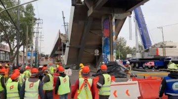 Inicia remoción de escombros en zona del desplome de la Línea 12 del Metro
