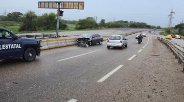 5 accidentes deja la lluvia matutina de ayer en Centro